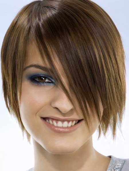 Short hair styles with long bangs