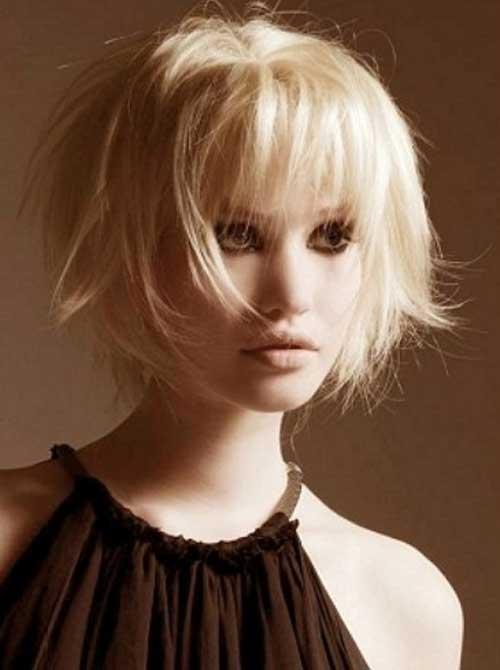 Short messy blonde hairstyles