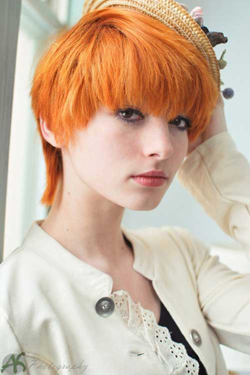 Short red hairstyles for girls