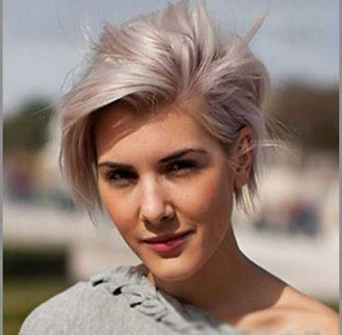 Short silver hairstyles for women
