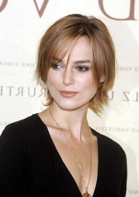 Short hairstyles for oval faces and straight hair