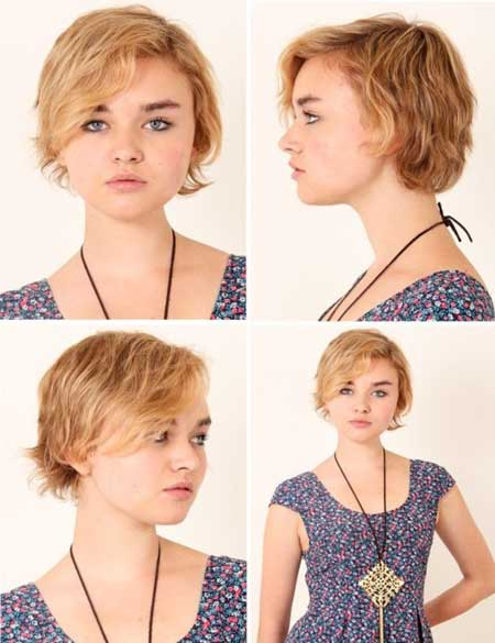 Short wavy blonde haircuts