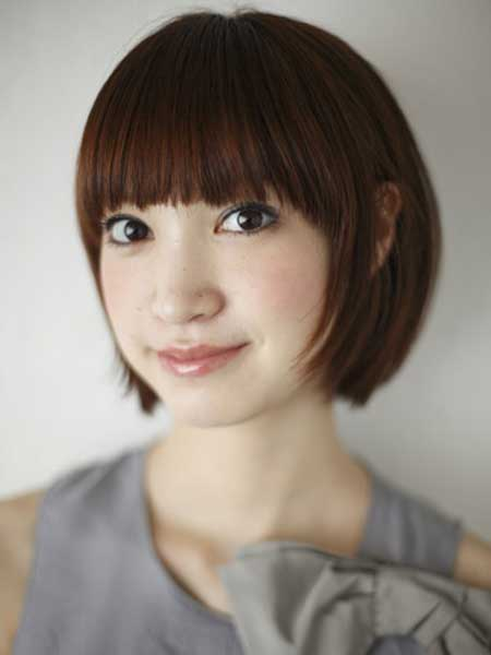 Asian short straight hair style