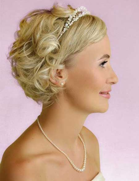 Surprising Bridal Short Hairstyles Pictures Short Hairstyles 2016 2017 Hairstyles For Men Maxibearus
