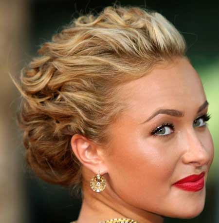 Bridal hair updos for short hair