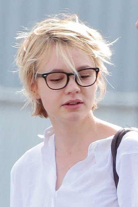 Short messy celebrity hairstyle