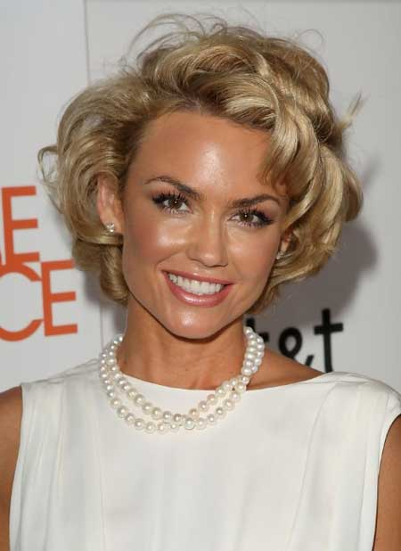 Short curly celebrity hairstyle