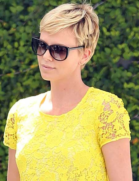 Celebrity Short Hairstyles-Charlize Theron