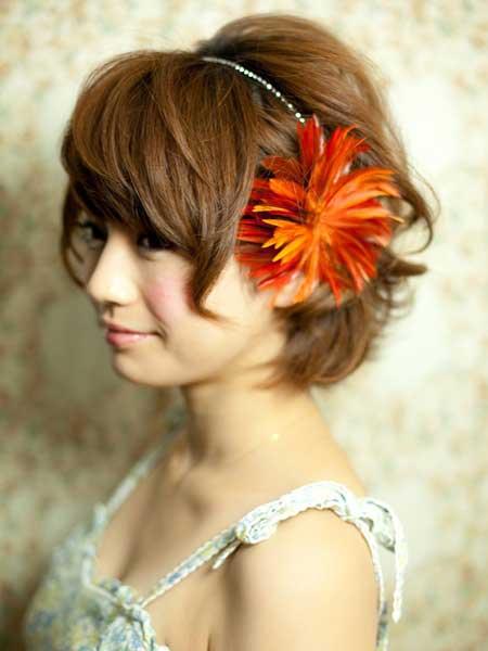 Flowers For Short Hair Wedding