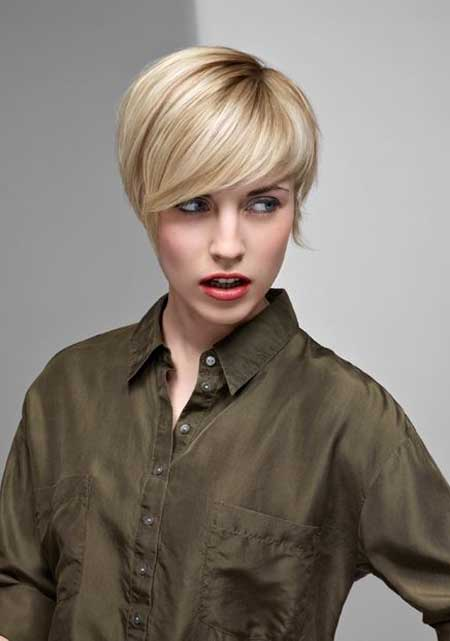 Modern short blonde hairstyles