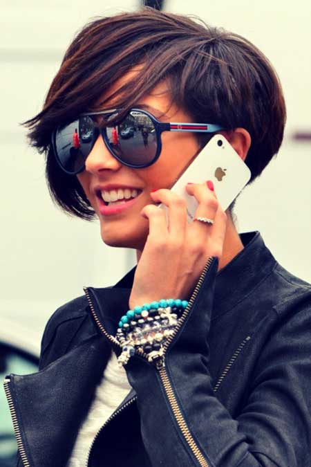 Pictures of Celebrity Short Hairstyles-Frankie Sandford