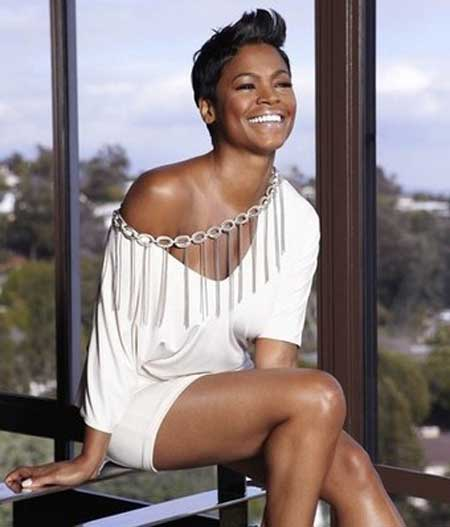 Pictures of Celebrity Short Hairstyles-Nia Long