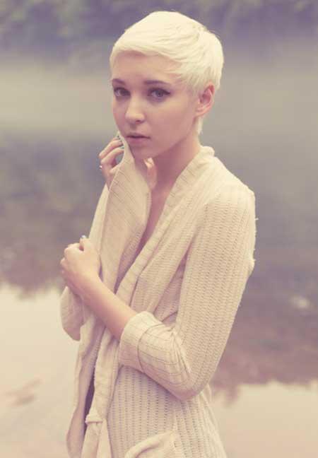 Blonde Pixie Haircut Nude 55