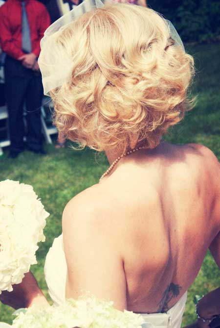 Short Haircuts for Brides-5