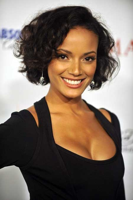 Short black curly hairstyle 2013