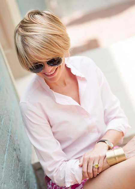 Short blonde fine hairstyles