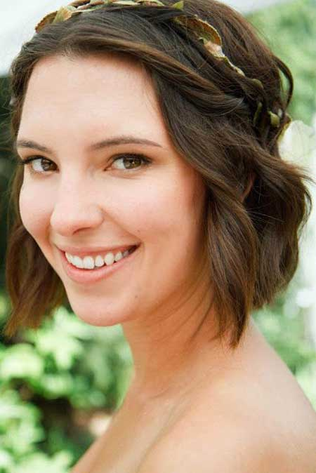 Short bridal updo 2013