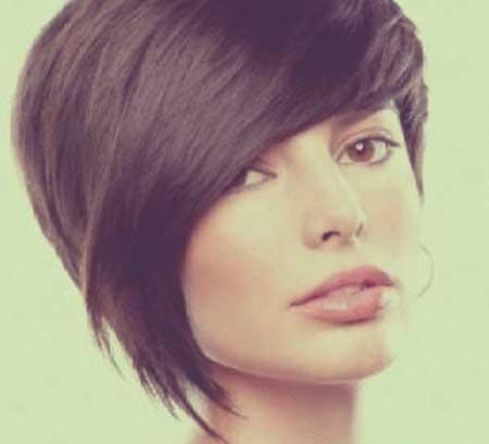 Short haircuts straight thick hair