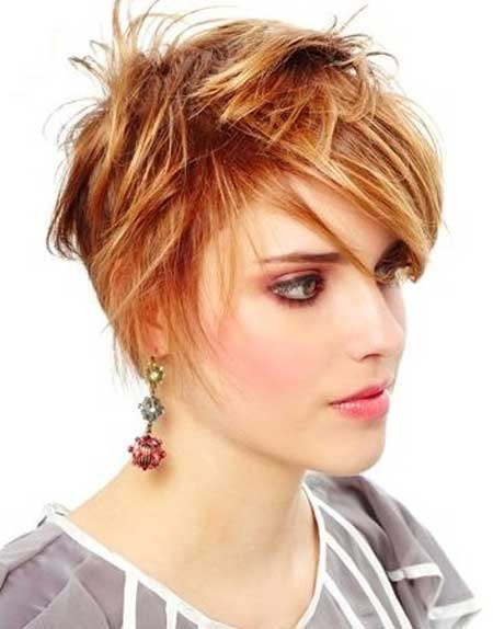 Short straight messy hairstyles