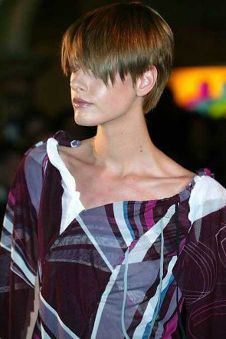 Short straight trendy hairstyle