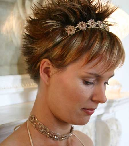 Spiky wedding hairstyles
