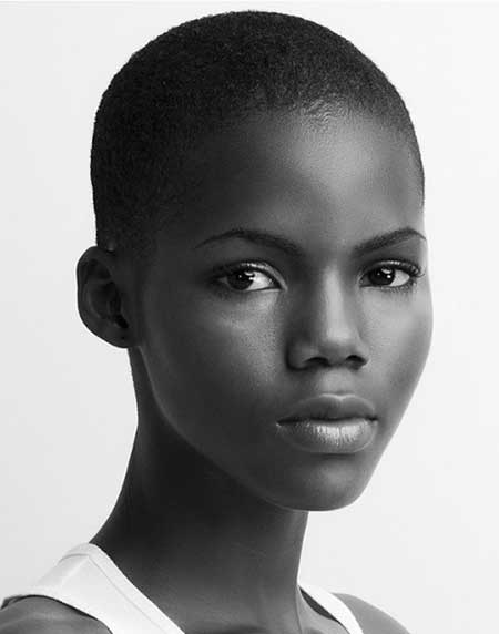 Very short natural haircuts for black women