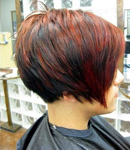 Black and Vivacious Red Combo Hairstyle