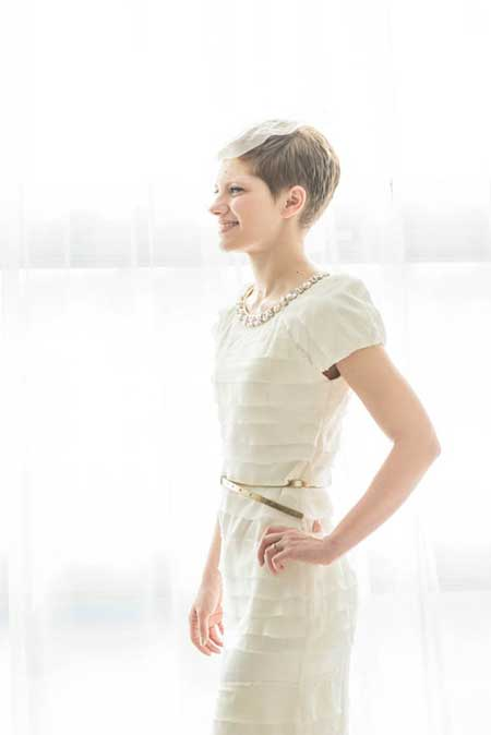 Boyish Short Bridal Hairstyle