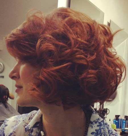 Curly and Big Haircut