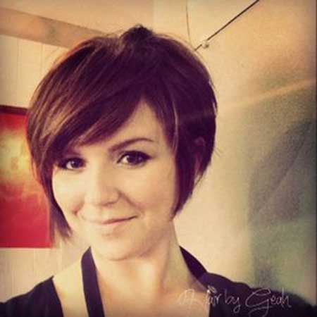 Cute Short Brunette Bob Haircut