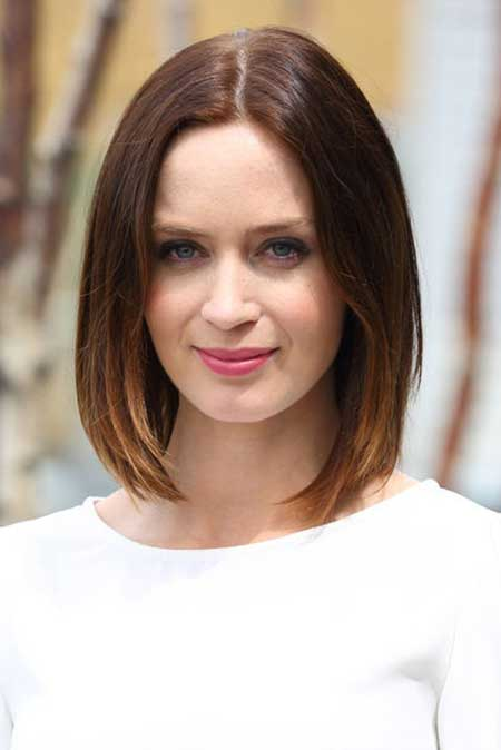 Emily Blunt Long Bob Hairstyle