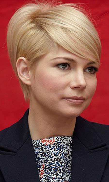 Medium Pixie Blond Hairstyle