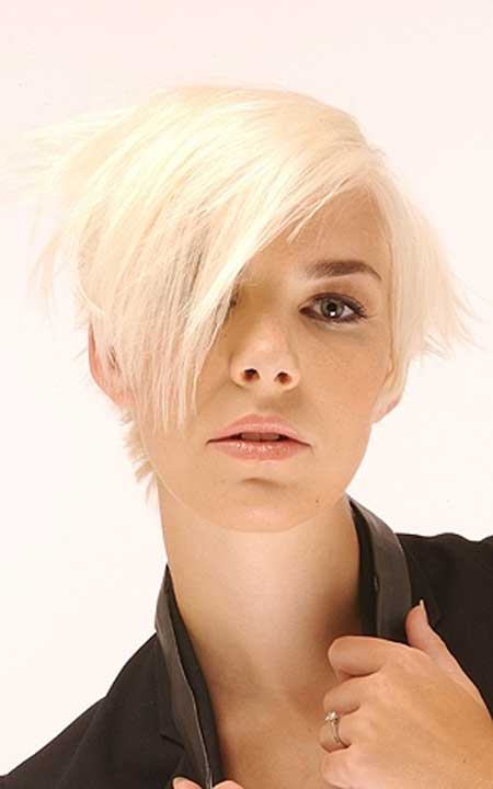 Platinum Short Blond Hairstyle