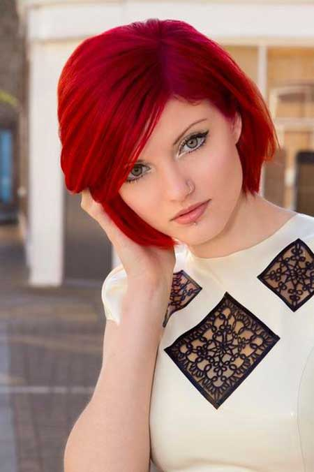 Red color for short hair