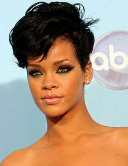 Rihanna short cut