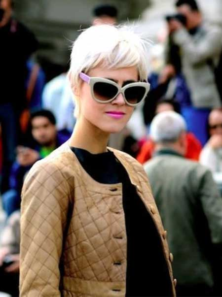 Short Blonde Pixie Hairstyle