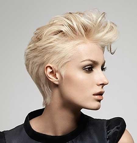 Short Brushed-up Fashionable Hairstyle