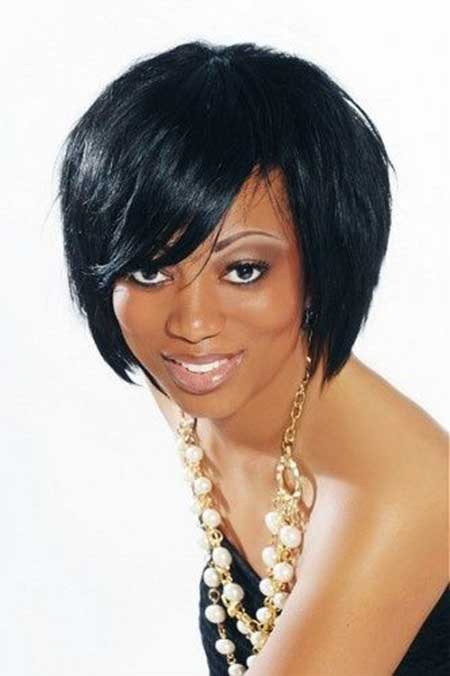 Short Cut straight Hairstyles for Black Women