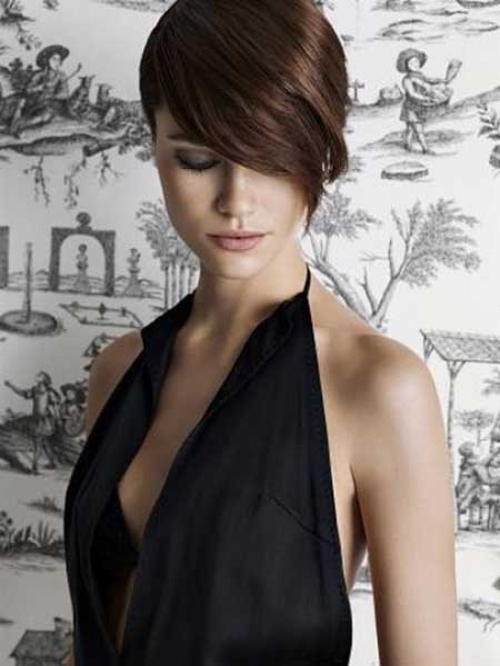 Short Pixie Cut with Long Bangs