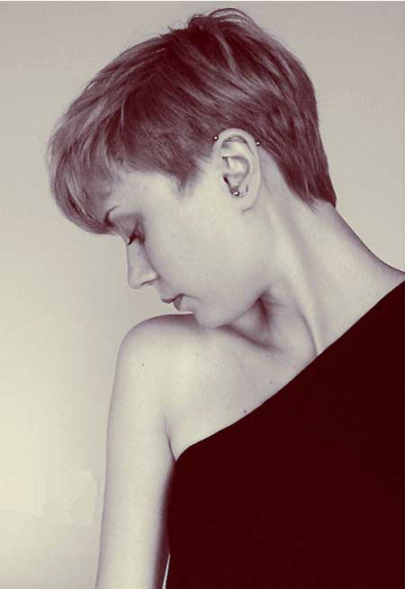 Short Pixie Haircut with Longer Bangs
