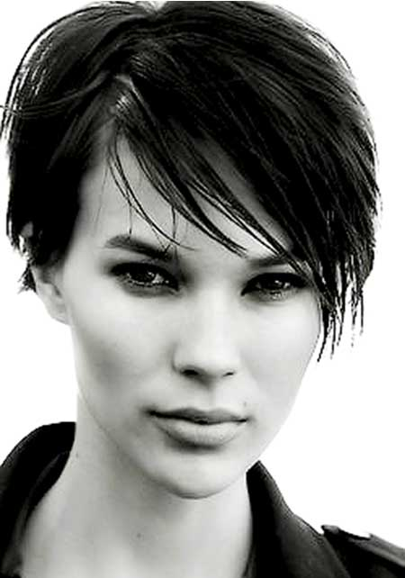 Short Sassy Wet look Hairstyle