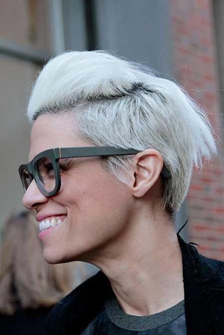 Short white hairstyle