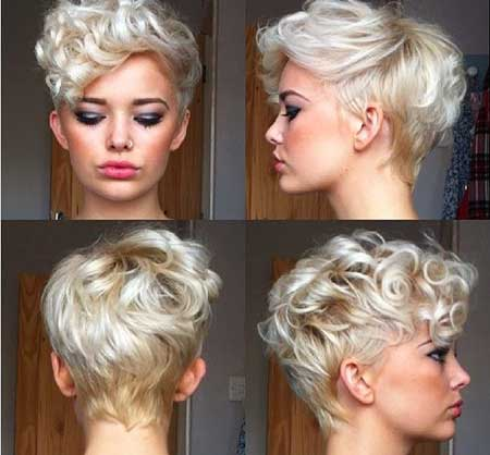 Shorter Hair with Curly Bangs