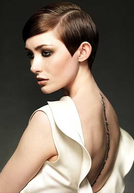 Streamlined and slicked short Hairstyle