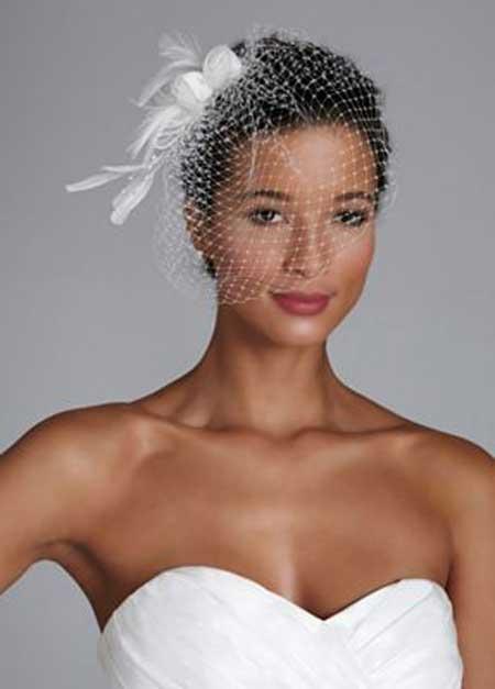 Very Short Natural Bridal Hairstyle