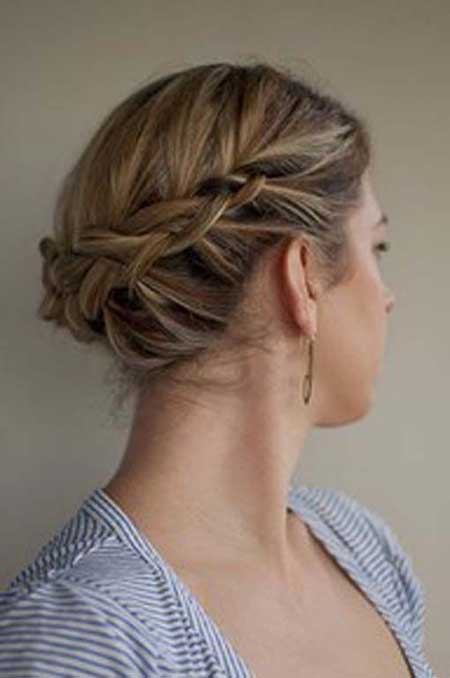 Upswept Hairdo with Braids