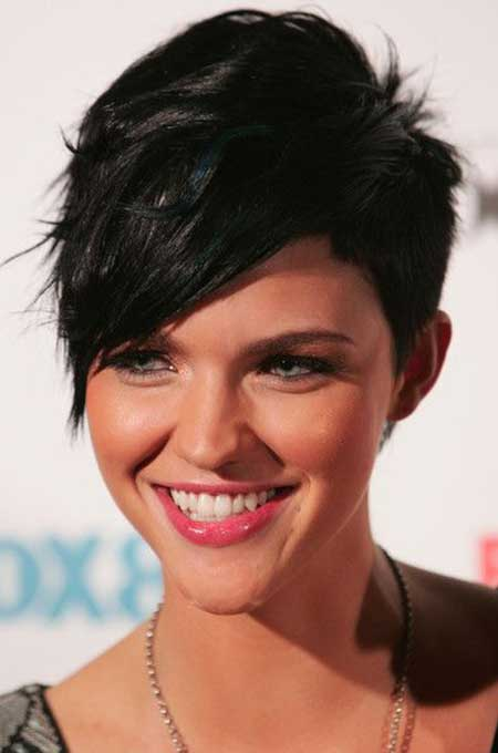 Sensational Pictures Of Short Haircuts With Bangs Short Hairstyles 2016 Short Hairstyles Gunalazisus
