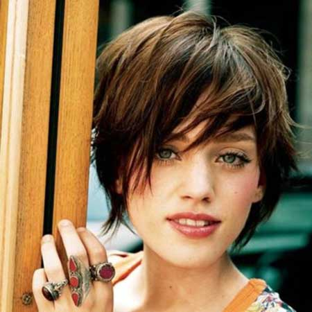 Pleasant Pictures Of Short Haircuts With Bangs Short Hairstyles 2016 Short Hairstyles Gunalazisus