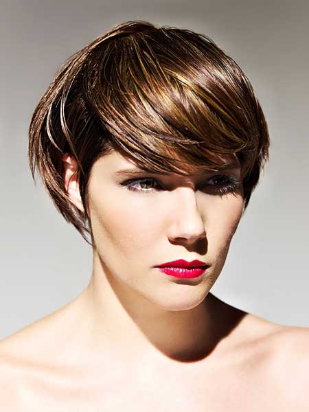Charming Short Bob Cut with Awesome Bangs