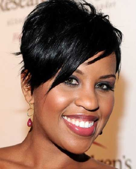 Cool Pixie Cut with Jagged Bangs